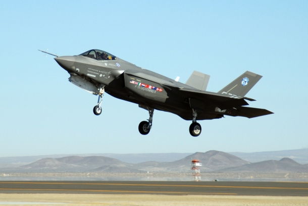 F-35 completes air-start test at Edwards